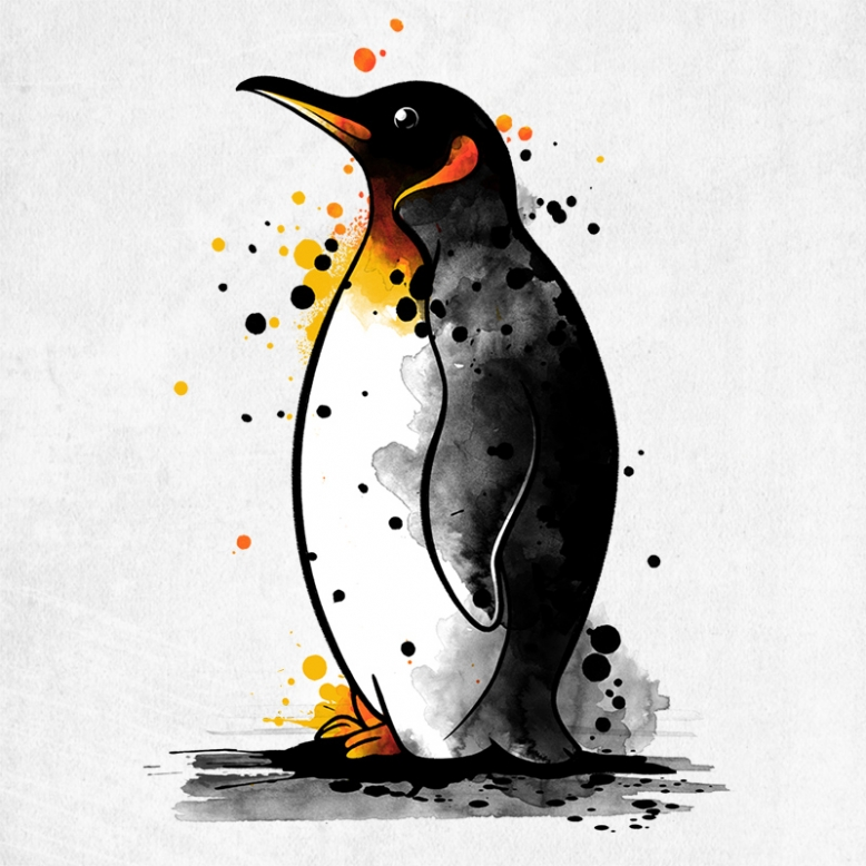 Penguin watercolor