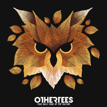 Owl of leaves