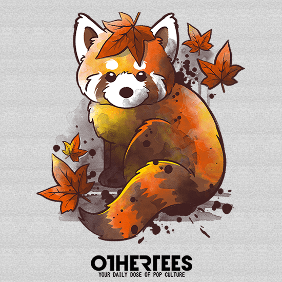 Red panda red leaves